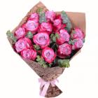 Букет из 15 фиолетовых роз
